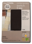 Lutron Claro Switch, 3 Way - Brown