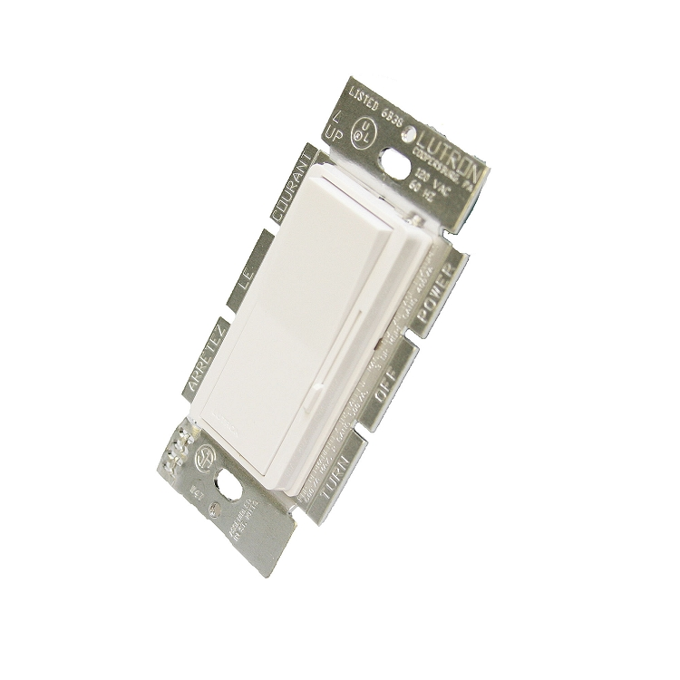 Lutron 600w Diva Magnetic Low Voltage Dimmer 3 Way White