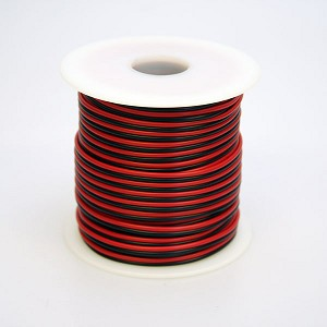 24 Gauge, Stranded Wire, 100 ft, Black and Red Insulation
